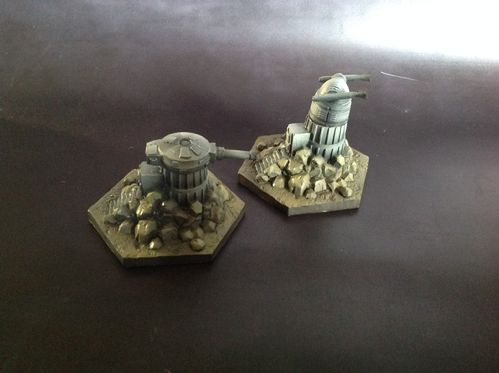 Ground Assault Rebel Gun Towers x2